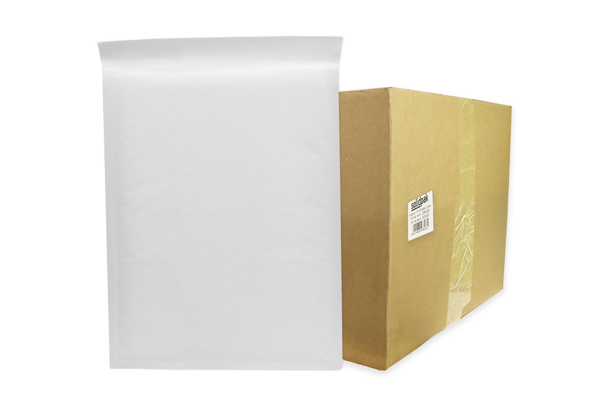 Koperty bąbelkowe białe